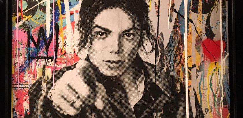 Michael Jackson Xscape poster On The Wall Exibition Paris