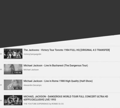 MJ Live Performances.